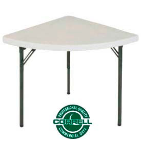 """Correll Folding Table - Blow Molded Wedge Shape - 30""""X 30 - Gray - Pkg Qty 2"""