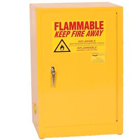 Eagle Compact Flammable Cabinet - Manual Close Door 12 Gallon