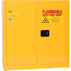 Eagle Compact Flammable Cabinet - Manual Close Door 24 Gallon