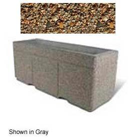 "Concrete Outdoor Planter w/Forklift Knockouts, 72""Lx24""W x 30""H Rectangle Tan River Rock"