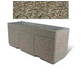 "Concrete Outdoor Planter w/Forklift Knockouts, 72""Lx24""W x 30""H Rectangle Gray Limestone"