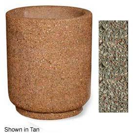 "Concrete Outdoor Planter 31""Dia x 36""H Round Gray limestone"