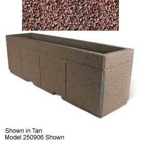 "Concrete Outdoor Planter w/Forklift Knockouts, 96""Lx30""W x 36""H Rectangle Red Quartzite"