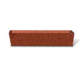 "Concrete Outdoor Planter 72""L x 16""W x 15""H Rectangle Red Quartzite"