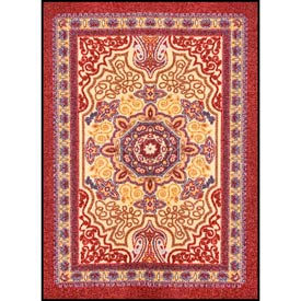 Orientrax Entrance Rug 5' x 8' Thick Burgundy