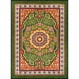 Orientrax Entrance Rug 5' x 8' Thick Emerald