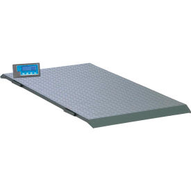 "Brecknell PS2000 Low Profile Digital Floor Scale 2,000lb x 1lb, 59"" x 30"" Platform"