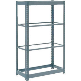 """Heavy Duty Shelving 48""""W x 24""""D x 60""""H With 4 Shelves - No Deck - Gray"""