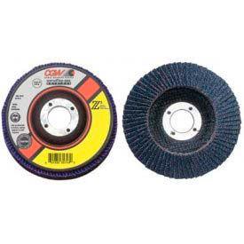 "CGW Abrasives 42765 Abrasive Flap Disc 7"" x 7/8"" 80 Grit Zirconia - Pkg Qty 10"