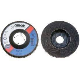 """CGW Abrasives 56003 Abrasive Flap Disc 4"""" x 5/8"""" 600 Grit Silicon Carbide - Pkg Qty 10"""