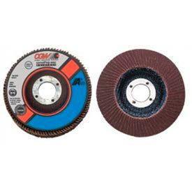"""CGW Abrasives 39212 Abrasive Flap Disc 4"""" x 3/8 - 24"""" 40 Grit Aluminum Oxide - Pkg Qty 10"""