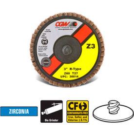 """CGW Abrasives 30002 Abrasive Quick Change Disc 2"""" TR 40 Grit Zirconia - Pkg Qty 10"""