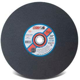 "CGW Abrasives 36233 Metal Cut-Off Wheel 14"" x 1"" Type 1 24 Grit Aluminium Oxide - Pkg Qty 10"