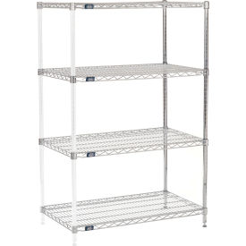 "63"" H Nexel Chrome Wire Shelving Add-On - 36"" W x 21"" D"