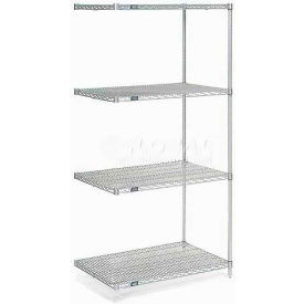 "Nexel Poly-Z-Brite Wire Shelving Add-On 36""W x 18""D x 54""H"
