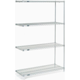 "Nexel Poly-Z-Brite Wire Shelving Add-On 54""W x 18""D x 54""H"