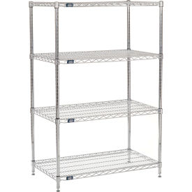 "54"" H Nexel Chrome Wire Shelving - 42"" W x 21"" D"