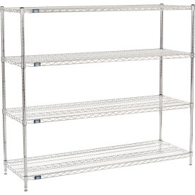 "54"" H Nexel Chrome Wire Shelving - 60"" W x 21"" D"