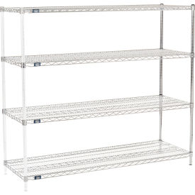 "54"" H Nexel Chrome Wire Shelving Add-On - 72"" W x 21"" D"