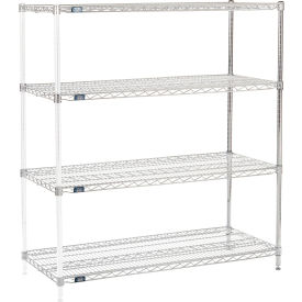 "54"" H Nexel Chrome Wire Shelving Add-On - 48"" W x 21"" D"