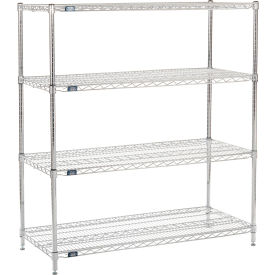 "63"" H Nexel Chrome Wire Shelving - 48"" W x 21"" D"