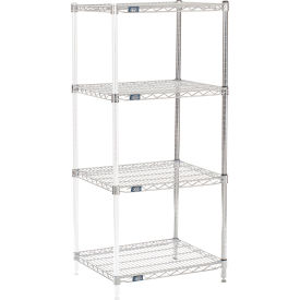 "63"" H Nexel Chrome Wire Shelving Add-On - 30"" W x 21"" D"