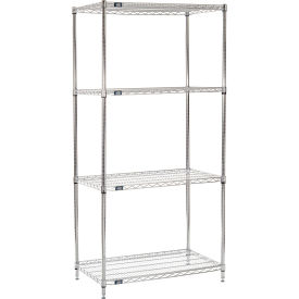 "74"" H Nexel Chrome Wire Shelving - 42"" W x 21"" D"