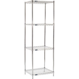 "86"" H Nexel Chrome Wire Shelving - 24"" W x 21"" D"