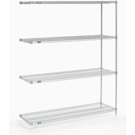 "Nexel Poly-Z-Brite Wire Shelving Add-On 60""W x 24""D x 54""H"