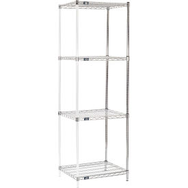 "86"" H Nexel Chrome Wire Shelving Add-On - 24"" W x 21"" D"