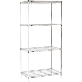 "86"" H Nexel Chrome Wire Shelving Add-On - 36"" W x 21"" D"
