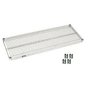 """Nexel S2148C Chrome Wire Shelf 48""""W x 21""""D with Clips"""