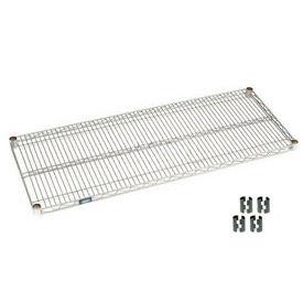 """Nexel S2154C Chrome Wire Shelf 54""""W x 21""""D with Clips"""