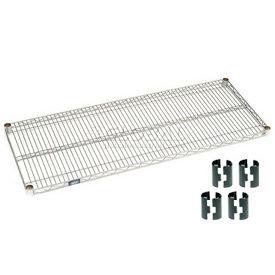 """Nexel S2148Z Poly-Z-Brite Wire Shelf 48""""W x 21""""D with Clips"""