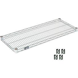 """Nexel S1442Z Poly-Z-Brite Wire Shelf 42""""W x 14""""D with Clips"""