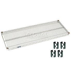 """Nexel S2160Z Poly-Z-Brite Wire Shelf 60""""W x 21""""D with Clips"""