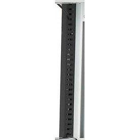 """1.5"""" x 1.5"""" Wire Management Trough Black PVC 60"""" long"""