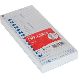 Time Cards for Time Clock, Document and Job Recorder, Pack of 100