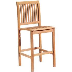 Oxford Garden® Sonoma Outdoor Bar Side Chair - Teak