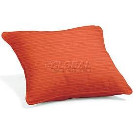 """Throw Pillow 15"""" Square - Dupione Papaya"""