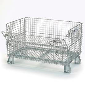 """Folding Wire Container GJR5 32x20x21 1/2"""" Mesh Size 1000 Lb. Capacity"""