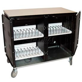 Buhl 24 Bay Laptop and Netbook Storage & Charging Cart