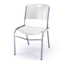 Lifetime® Stacking Chair, White, Pack of 14
