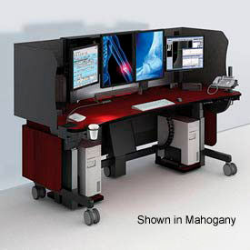 "Whitestone™ Radiology Workstation - Black 84""W x 34""D"