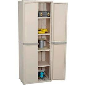 "Light Duty Plastic Cabinet 4-Shelf 25-5/8""W x 18-7/8""D x 69-3/8""H"