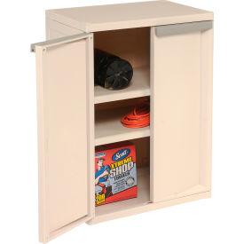 "Light Duty Plastic Cabinet 2-Shelf 25-5/8""W x 18-7/8""D x 35-5/8""H"