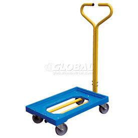 Vestil Plastic Dolly with Handle PDH-1624 500 Lb. Capacity