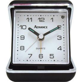 Geneva Advance Quartz Analog Clamshell Travel Alarm Clock - Pkg Qty 6