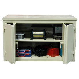 Cabinet Workbench W/Bi-Fold Doors