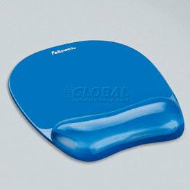 Fellowes® 91141 Gel Crystals Mousepad/Wrist Rest, Blue - Pkg Qty 4